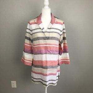 814455f1e9 Brooks Brothers striped linen tunic - Size 12